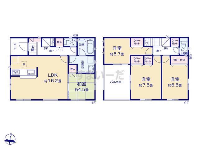クレイドルガーデン 名古屋市北区会所町 第4の見取り図