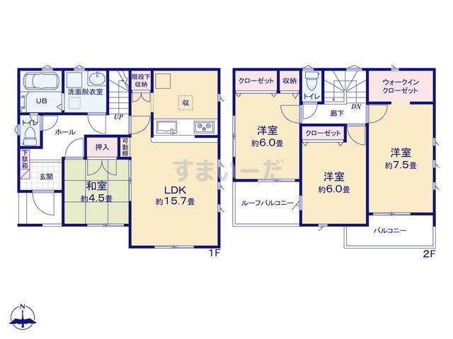 リナージュ 平塚市入野20-1期の見取り図