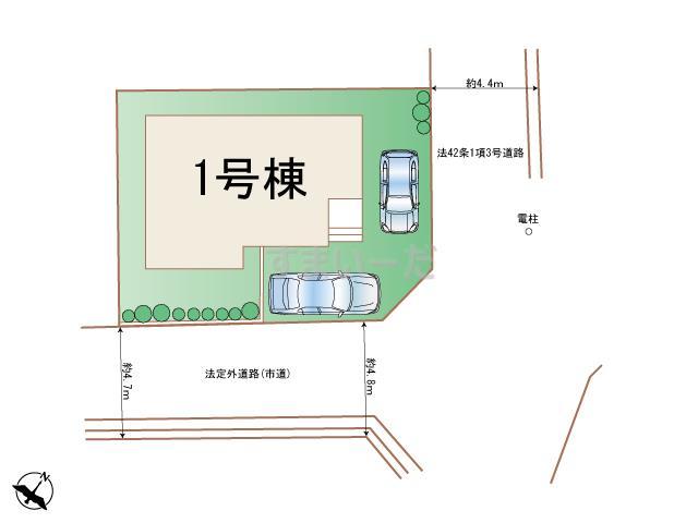 ハートフルタウン 神戸灘篠原伯母野山町の見取り図