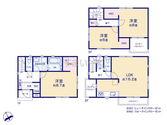 リナージュ 名古屋市守山区新守山20-1期の見取り図
