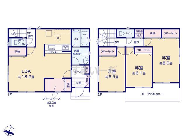 リナージュ 名古屋市港区宝神町21-1期の見取り図