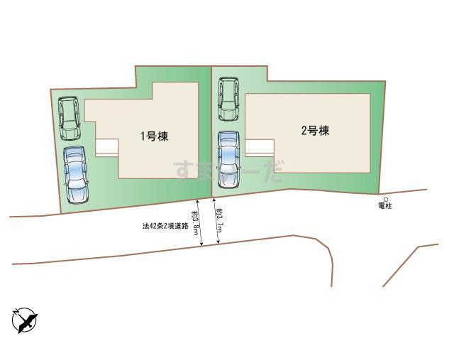 ハートフルタウン 横浜市港北区師岡町198番の見取り図