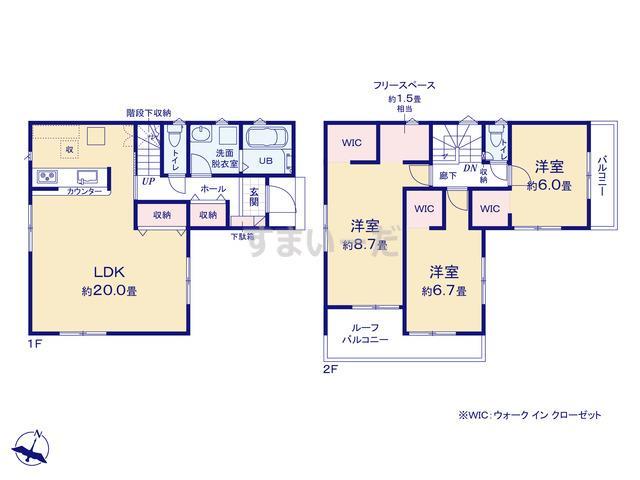 リナージュ 千葉市中央区生実町20-2期の見取り図