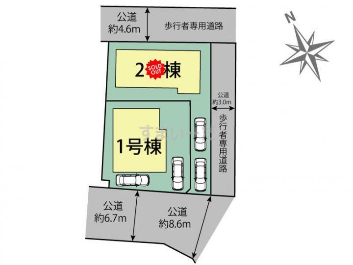 ブルーミングガーデン 堺市南区三原台4丁2棟の見取り図