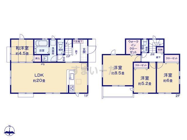 グラファーレ 三浦市初声町和田1棟の見取り図