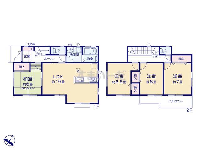 ハートフルタウン 第1神戸北筑紫が丘の見取り図