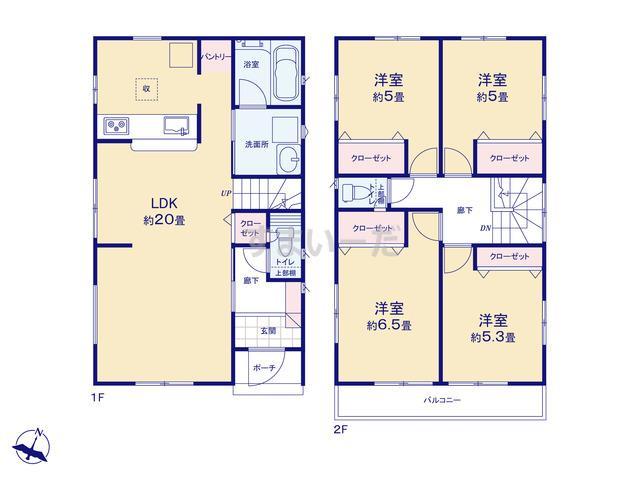 クレイドルガーデン 熊本市南区御幸笛田 第11の見取り図