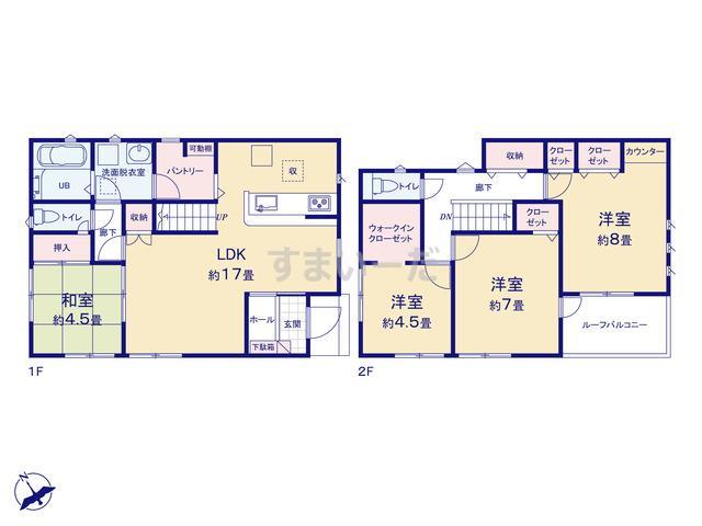 リナージュ 町田市矢部町20-1期の見取り図