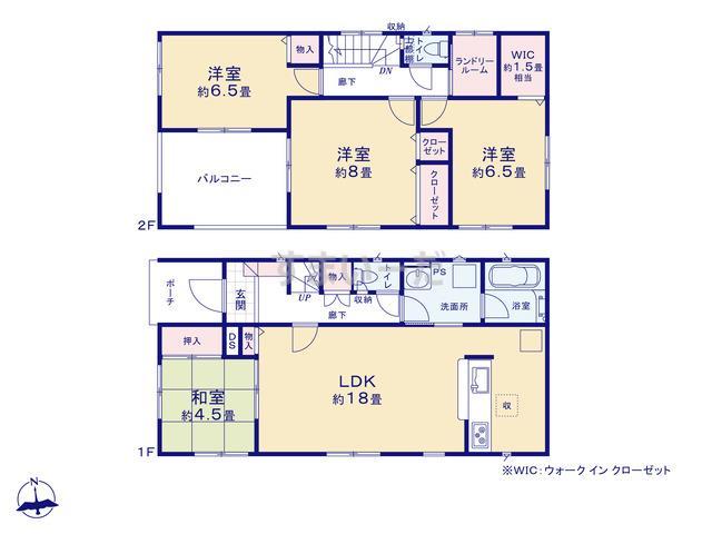 クレイドルガーデン 金沢市弥生 第1の見取り図