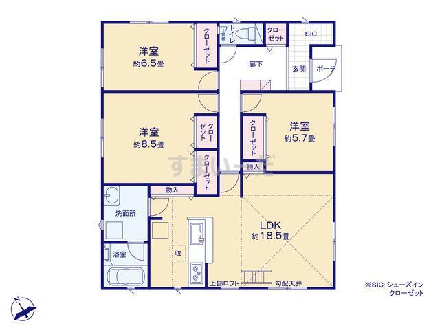 クレイドルガーデン 栄町竜角寺台 第9の見取り図