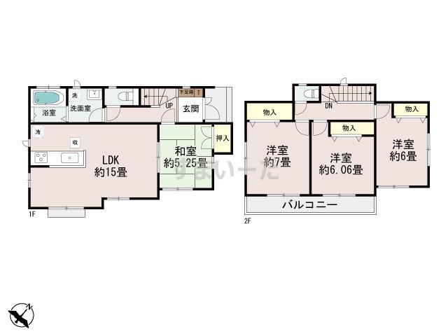 ハートフルタウン (西宮)神戸垂水区塩屋町の見取り図