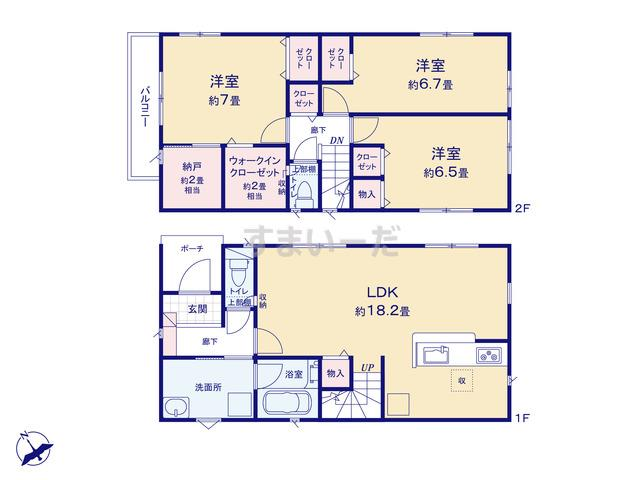 クレイドルガーデン 静岡市清水区矢倉町 第2の見取り図