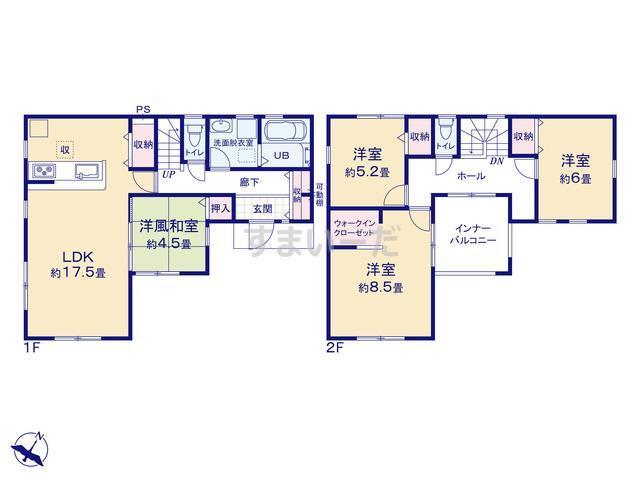 リーブルガーデン 高萩市高萩2期の見取り図