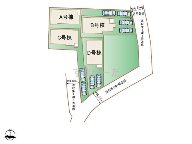 ハートフルタウン 相模原市南区下溝1201番の見取り図