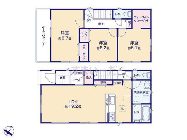 リナージュ 名古屋市守山区上志段味21-1期の見取り図