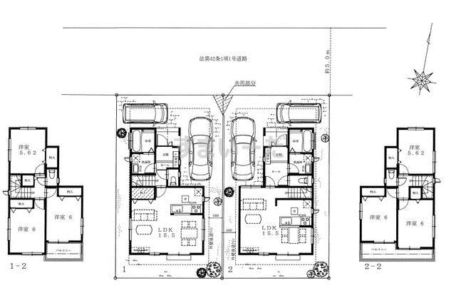 ハートフルタウン 太白区芦の口Ⅱ期の見取り図