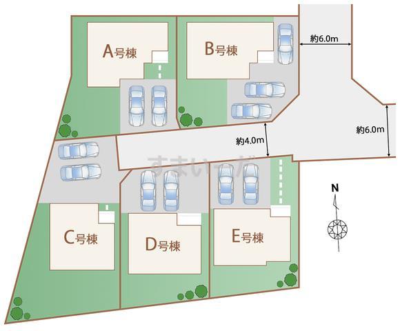 ハートフルタウン 青葉区上愛子Ⅰ期の見取り図