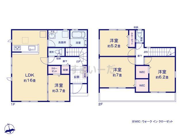 グラファーレ 名古屋市東茶屋6期2棟の見取り図