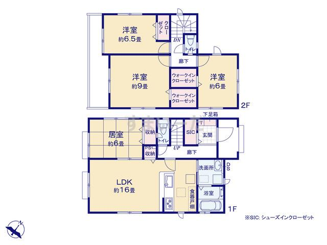 グラファーレ 仙台市南光台12期2棟の見取り図