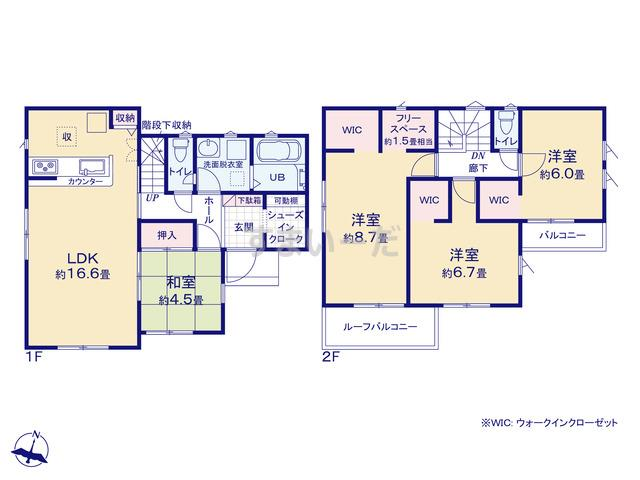 リナージュ 千葉市若葉区小倉町20-2期の見取り図