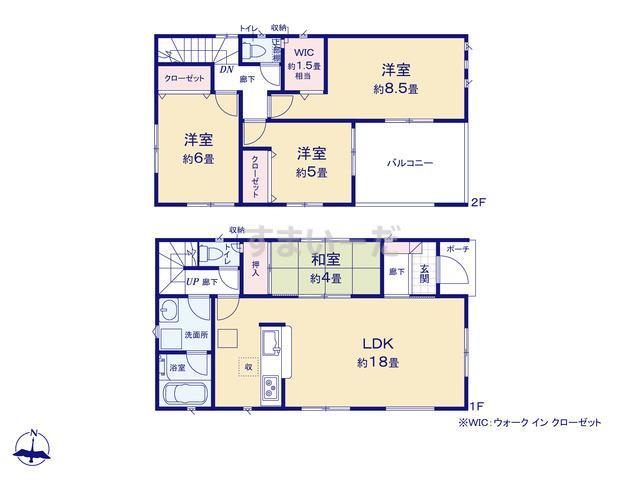 クレイドルガーデン 熊本市南区田井島 第2-II期の見取り図