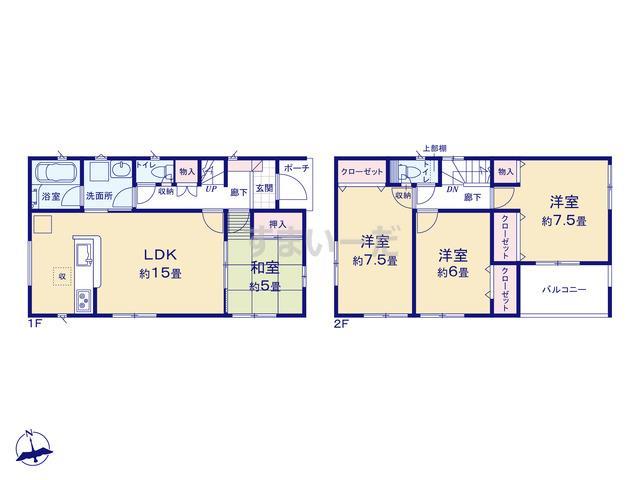 クレイドルガーデン 仙台市若林区霞目 第2の見取り図