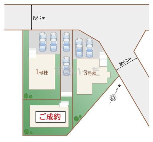 ハートフルタウン 仙台吉成二丁目の見取り図