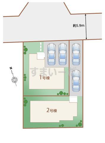 ハートフルタウン 宮城野区鶴ケ谷7丁目Ⅱ期の見取り図
