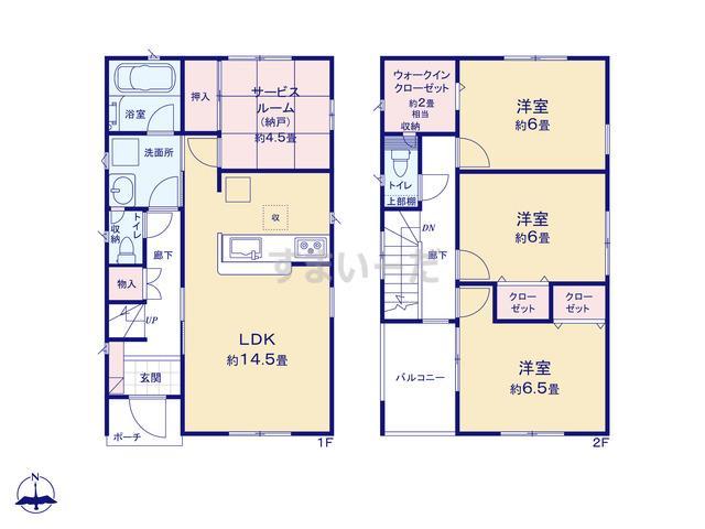 クレイドルガーデン 仙台市泉区向陽台 第14の見取り図