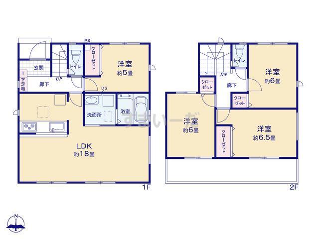 グラファーレ 名古屋市宝神13期5棟の見取り図