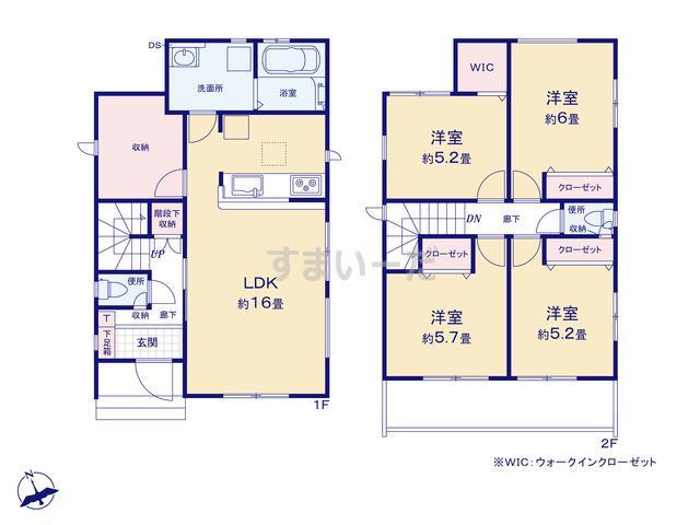 グラファーレ 名古屋市川北町2期1棟の見取り図
