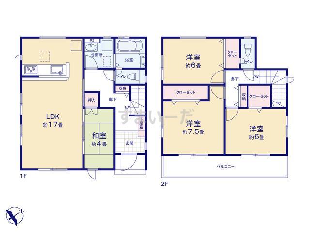 グラファーレ 福岡市和田3棟の見取り図