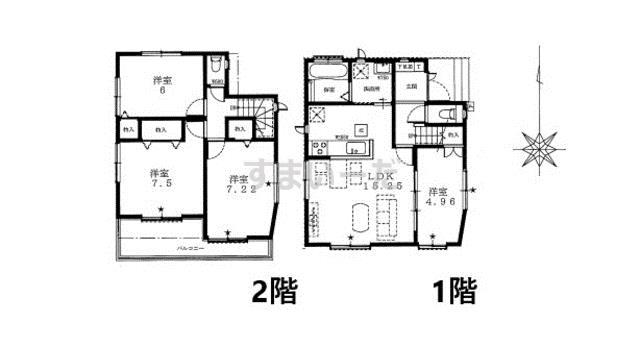 ハートフルタウン 足立区中央本町5期の見取り図