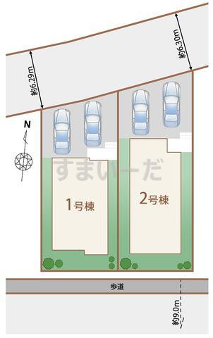 ハートフルタウン 仙台鶴が丘の見取り図