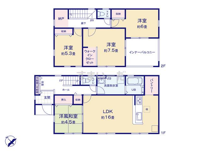 リーブルガーデン 八幡東区清田第二の見取り図