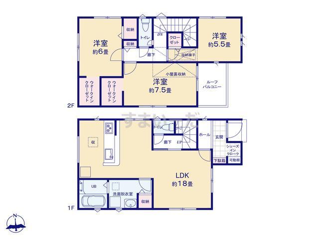 リナージュ 静岡市葵区上伝馬21-1期の見取り図