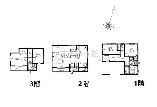 ハートフルタウン 葛飾区奥戸の見取り図