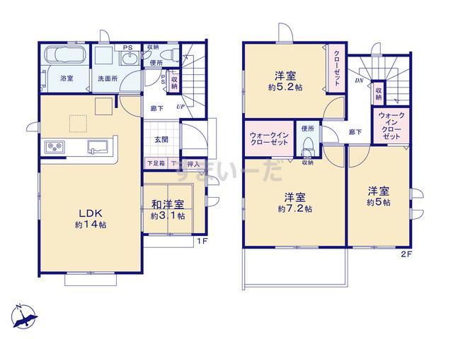 グラファーレ 足立区古千谷本町5期17棟の見取り図