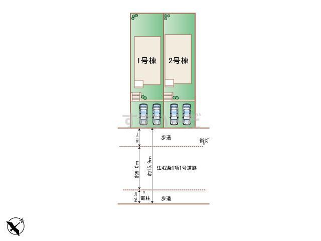 ハートフルタウン 名東区松井町の見取り図