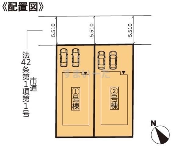グラファーレ 仙台市中山5期2棟の見取り図