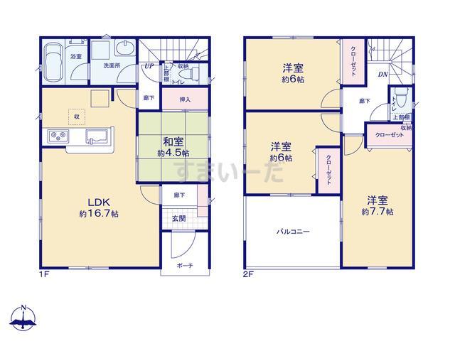 クレイドルガーデン 仙台市太白区西中田 第3の見取り図