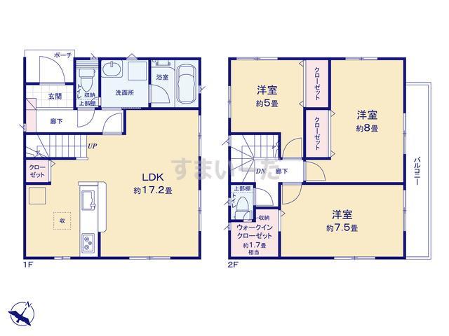 クレイドルガーデン 横浜市神奈川区羽沢町 第17の見取り図