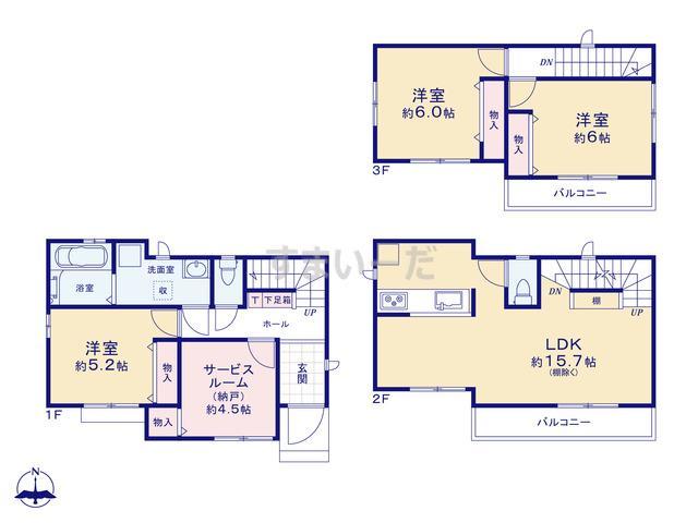 ハートフルタウン 第1大阪平野区喜連の見取り図