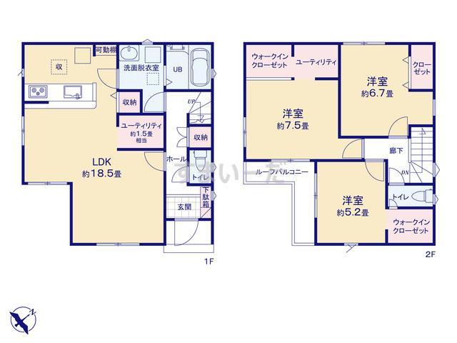 リナージュ 横浜市泉区中田西21-1期の見取り図
