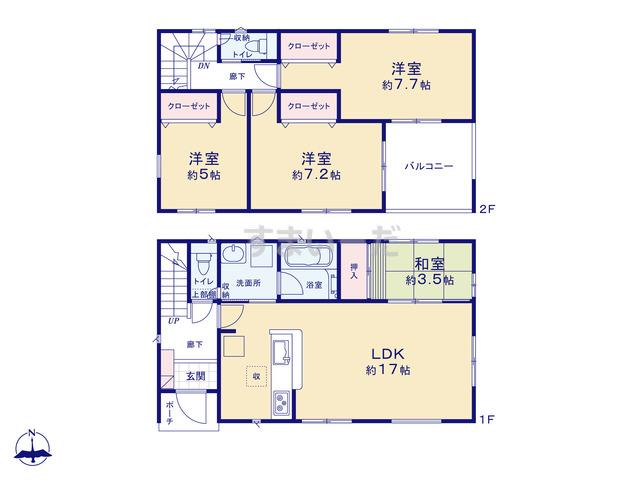 クレイドルガーデン 川崎市宮前区五所塚 第3の見取り図