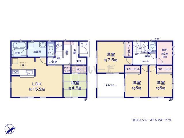 クレイドルガーデン 広島市安佐北区亀山 第4の見取り図