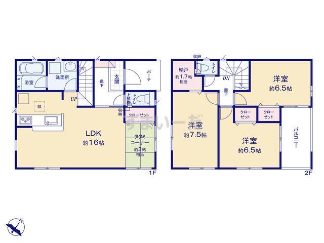 クレイドルガーデン 横浜市港南区東永谷 第6の見取り図