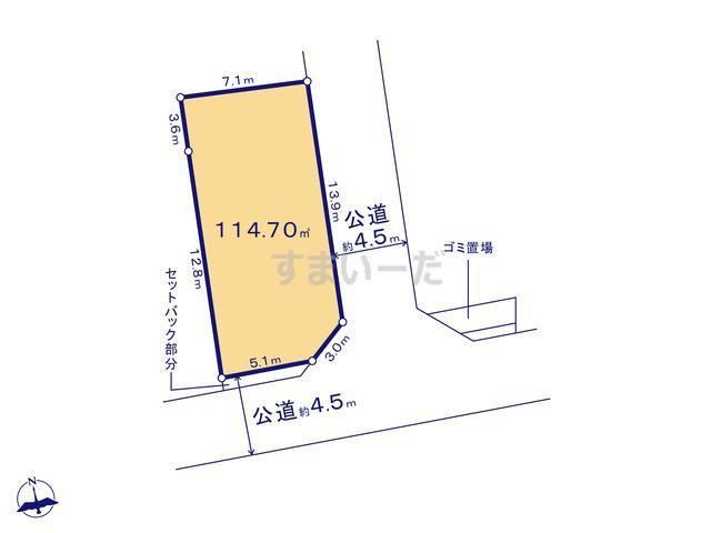 クレイドルガーデン 平塚市横内 第21の見取り図