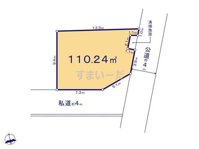 クレイドルガーデン 千葉市稲毛区園生町 第12の見取り図