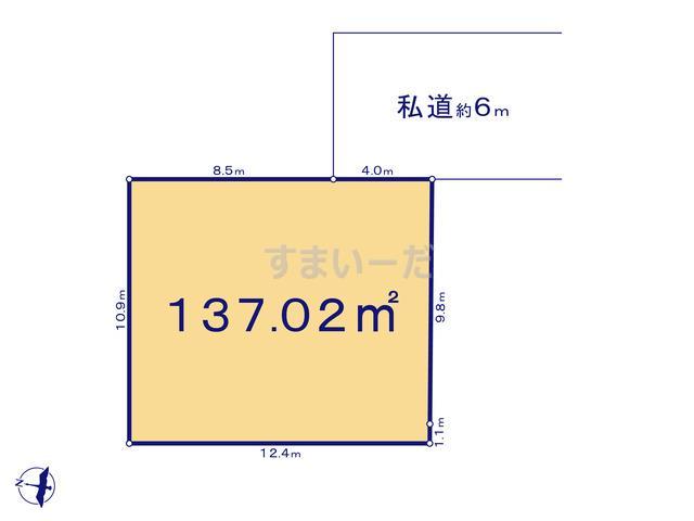 グラファーレ 所沢市小手指南3期5棟の見取り図